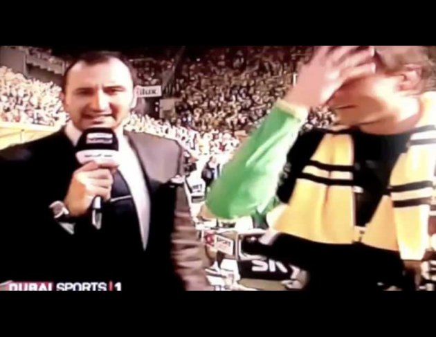 Reporter: Roman, ah, Weidenfeller, Weidenfeller. I think, aaah, it's, aah, it's phenomenal today, the win against Nürnberg today and the win of the trophy.