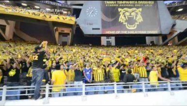 Malaysische Fans machen Party