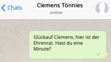Whats up, Clemens Tönnies?