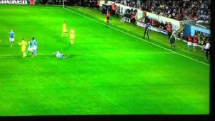 Mieses Foul in der Champions League