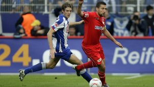 Peter Niemeyer (Hertha) und Torsten Mattuschka (Union) im Berlin-Derby-Interview